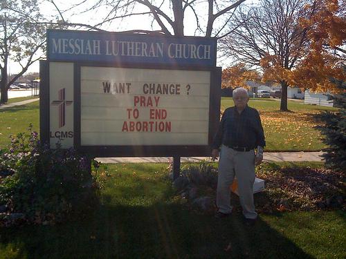 Lutheran church sign