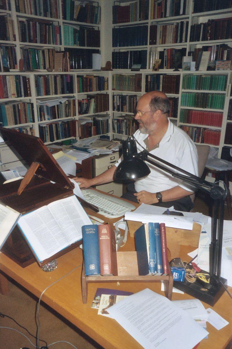 N.T. Wright's desk