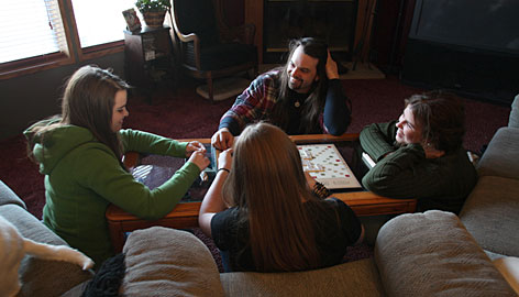 FAMILY GAME PLAYING
