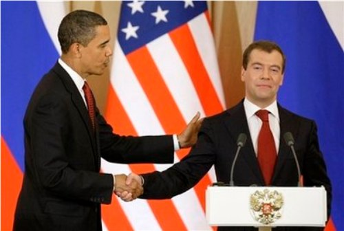 Obama and russian president