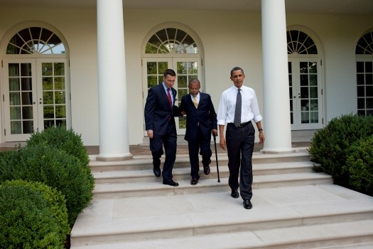 Obama and Sgt. and prof