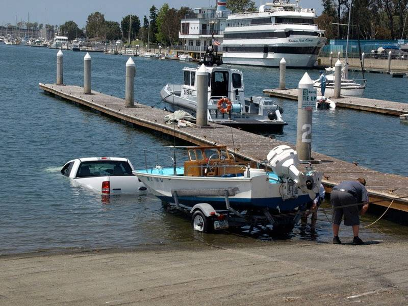 Boat goes firsrt