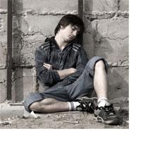 Teenager on street
