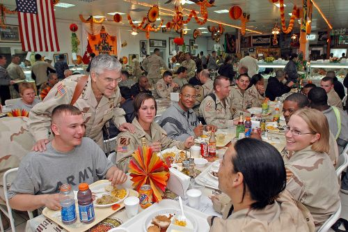 Soldier's thanksgiving
