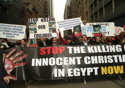 Copts protest 2