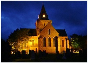 Church floodlit