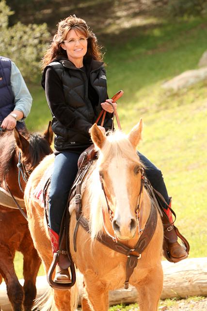 Sarah palin at the reagan ranch