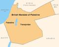 Mandate Palestine map