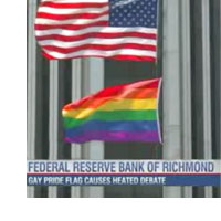 Gay flag at Fed