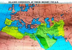 Muslim conquests map