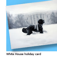 White House xmas card
