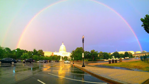 Rainbow over Washington