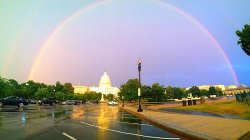 Rainbow over Washington